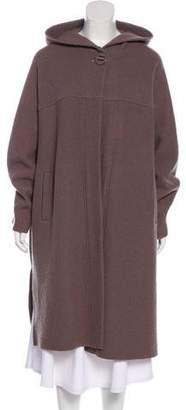 Magaschoni Hooded Knee-Length Coat