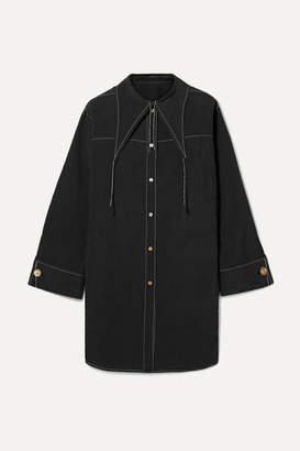 REJINA PYO - Harper Reversible Woven Tunic - Black