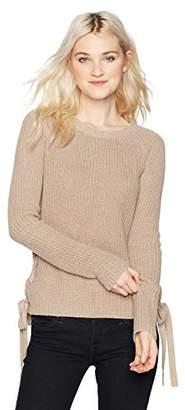 Amy Byer A. Byer Junior's Long Sleeve Crew Neck Crop Sweater (Junior's)