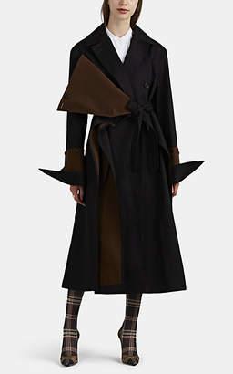 BESFXXK Women's Button-Detailed Cotton Trench Coat - Black