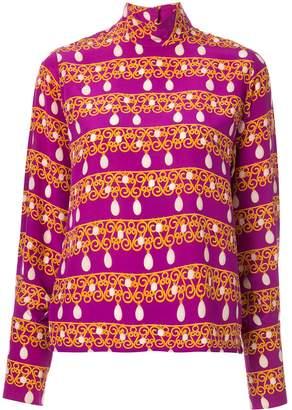 Celine Pre-Owned silk jewellery print long-sleeved blouse