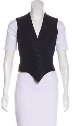 Lanvin Wool & Linen-Blend Vest