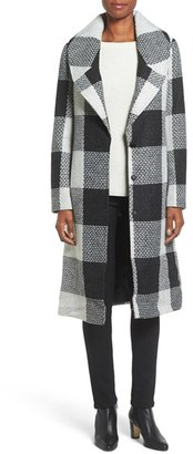 Women's Kensie Textured Plaid Long Coat $178 thestylecure.com
