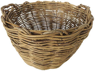 One Kings Lane Vintage French Willow Basket - Cliffe's Edge Antiques