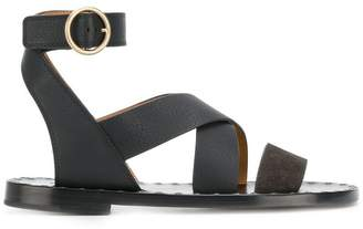 Chloé crossover ankle-strap sandals