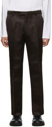 Prada Brown Silk Classic Satin Trousers