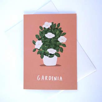 Gardenia Alex Foster Illustration Greetings Card