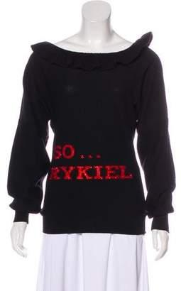 Sonia Rykiel Virgin Wool Embellished Sweater