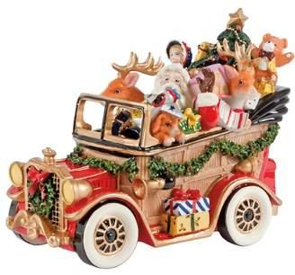 Fitz & Floyd Santa's Classic Car Holiday Musical Figurine