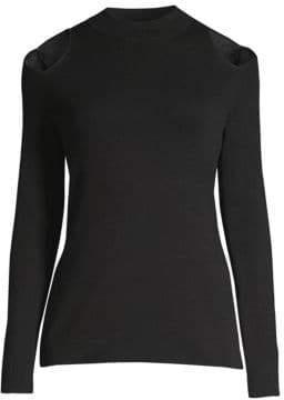 MICHAEL Michael Kors Wool Shoulder Cutout Sweater
