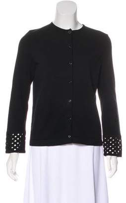 Fendi Scoop Neck Button-Up Cardigan