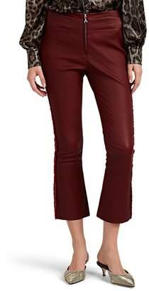 Area Women's Drew Leather Crop Flare Pants