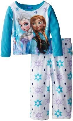 Disney Little Girls' Anna and Elsa Costume Knit 2 Piece Pajamas