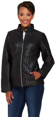 Isaac Mizrahi Live! SOHO Cable Quilted Nylon Jacket