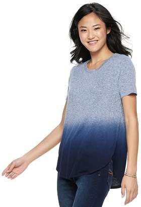 Mudd Juniors' Shirttail Short Sleeve Tee