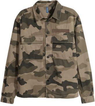 H&M Twill Shirt Jacket - Brown