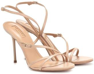 Aquazzura Carolyne 95 leather sandals