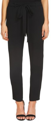 Women's Cece Tie Front Crepe Ankle Pants $99 thestylecure.com