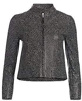 Akris Punto Women's Pastina-Print Leather Jacket