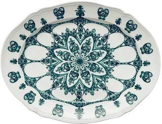 Richard Ginori Babele Green Oval Flat Platter (38.5cm)