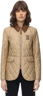 Burberry TB LOGO QUILTED NYLON JACKET