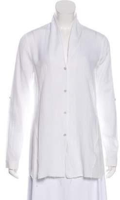 Helmut Lang Button-Up Long Sleeve Top