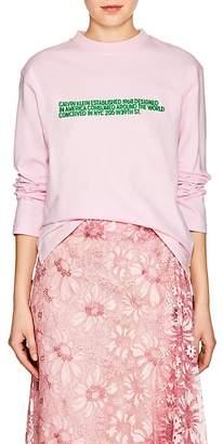 Calvin Klein Women's Logo-Embroidered Cotton Long-Sleeve T-Shirt