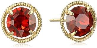 Swarovski Amazon Collection 10k Gold Made with Birthstone February Stud Earrings