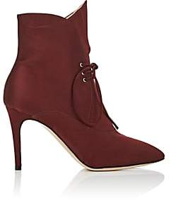 Zac Posen Women's Kiki Satin Ankle Boots - Rust