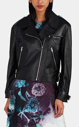 Prada Women's Leather Moto Jacket - Black