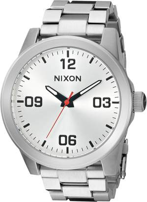 Nixon Women's 'G.I. SS, All' Quartz Stainless Steel Watch, Color Silver-Toned (Model: A919-1920-00)