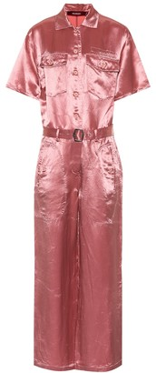 Sies Marjan Washed satin buttoned down jumpsuit