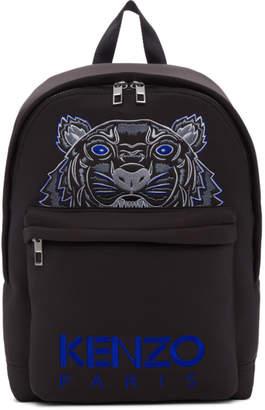 Kenzo Black Neoprene Tiger Backpack