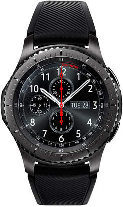 Samsung Gear S3 Frontier Smart Watch with 46mm Stainless Steel Case & Black Silicone Strap SM-R760NDAAXAR $349.99 thestylecure.com