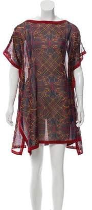 Hermes Printed Sheer Dress