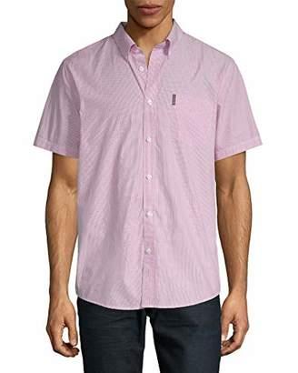 Ben Sherman Men's Short Sleeve Pencil Stripe Shirt