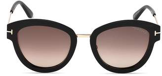 Tom Ford Women's Mia Round Sunglasses, 52mm