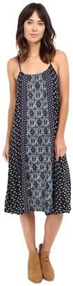 Brigitte Bailey Andie Contrast Print Spaghetti Strap Dress Women's Dress