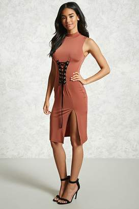 Forever 21 Contemporary Lace-Up Bodycon