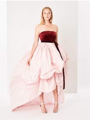 Oscar de la Renta Velvet And Taffeta Gown