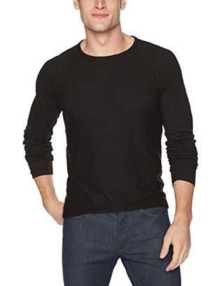 Billy Reid Men's Raglan Long Sleeve Indian Crew Neck T-Shirt