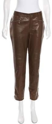 Ralph Lauren Leather Mid-Rise Pants