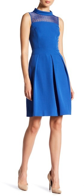 Anne Klein Anne Klein Flare Seam Dress