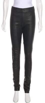 Zero Maria Cornejo Leather High-Rise Skinny Pants