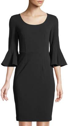 Donna Karan Scoop-Neck Bell-Sleeve Sheath Dress