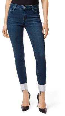 J Brand '811' Cutoff Step Hem Skinny Jeans