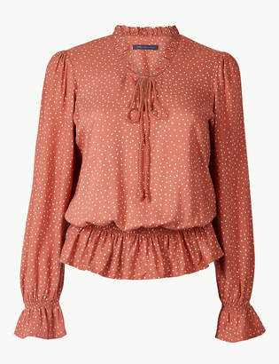 Marks and Spencer Ruched Waist Blouse