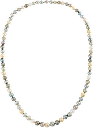 """Belpearl 14k White Gold Long Multicolor Pearl Necklace, 36""""L"""