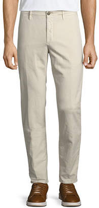 Incotex Men's 1st Washed Chino Flat-Front Pants