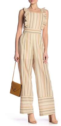 4fd6e861498 Free Press Striped Apron Front Ruffle Jumpsuit